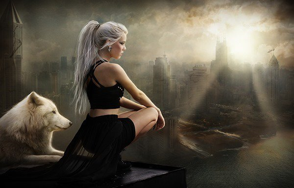 Gothic_Girl_and_Wolf_